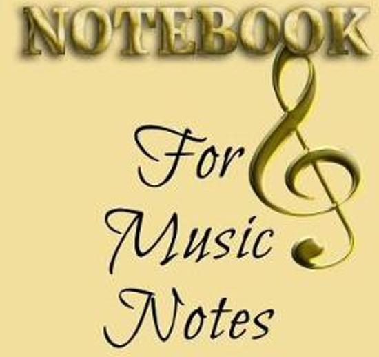 Notebook for Music Notes