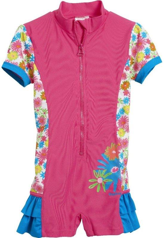 Playshoes UV zwempakje Kinderen Bloemen Ruches - Roze - Maat 74 - 80