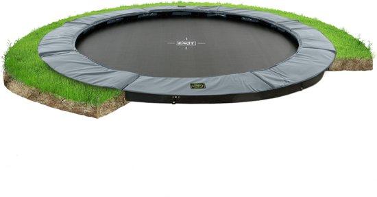 EXIT Supreme groundlevel trampoline ø427cm - grijs