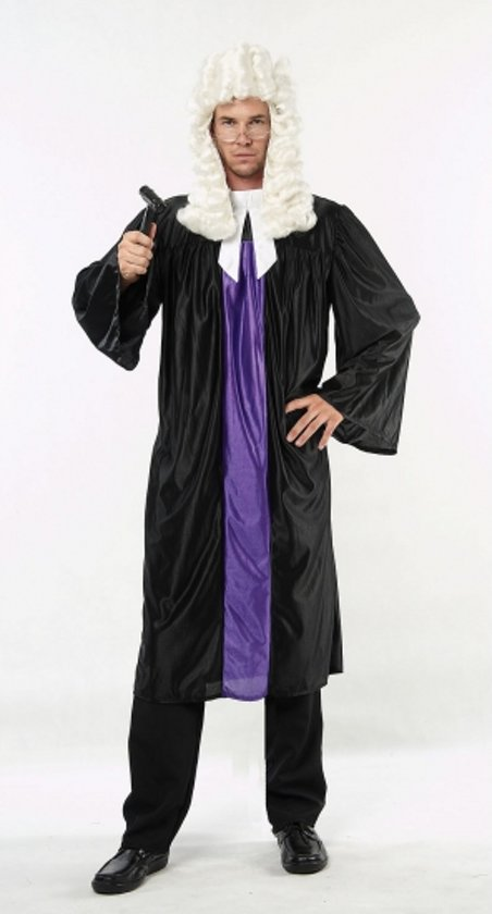 Rechter toga zwart en paars M/l