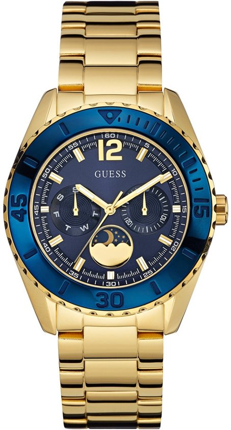 GUESS Watches - W0565L4 Moonstruck - Horloge - 40 mm - Goudkleurig