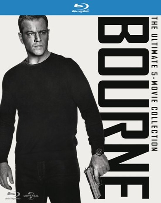 DVD cover van The Ultimate Bourne 5 Movie Collection (Blu-ray)