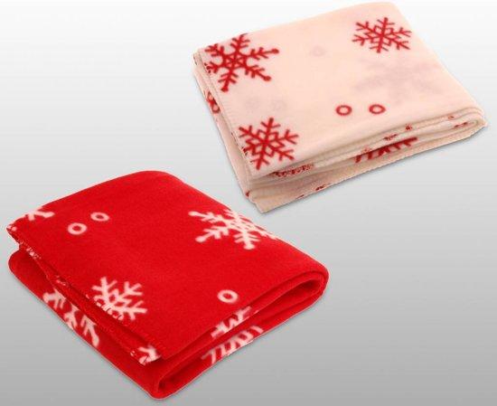 Kerst fleece deken grote sneeuwvlok (130x160cm)Stuntwinkel