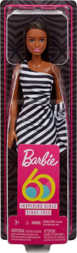 Barbie Glitz 60th Pop Met Bruin Haar - Barbiepop