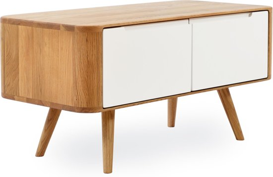 Fabulous Gazzda Ena Bench Houten Bijzetkast 90 X 42 Cm Naturel Bralicious Painted Fabric Chair Ideas Braliciousco