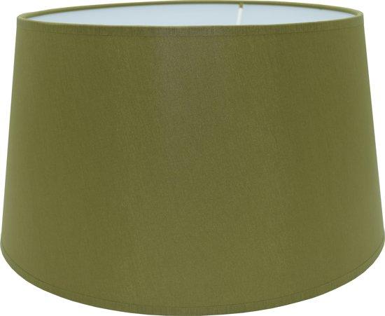 Ramlux CHINTZ Drum - Lampenkap - Ø20 cm - Olijfgroen