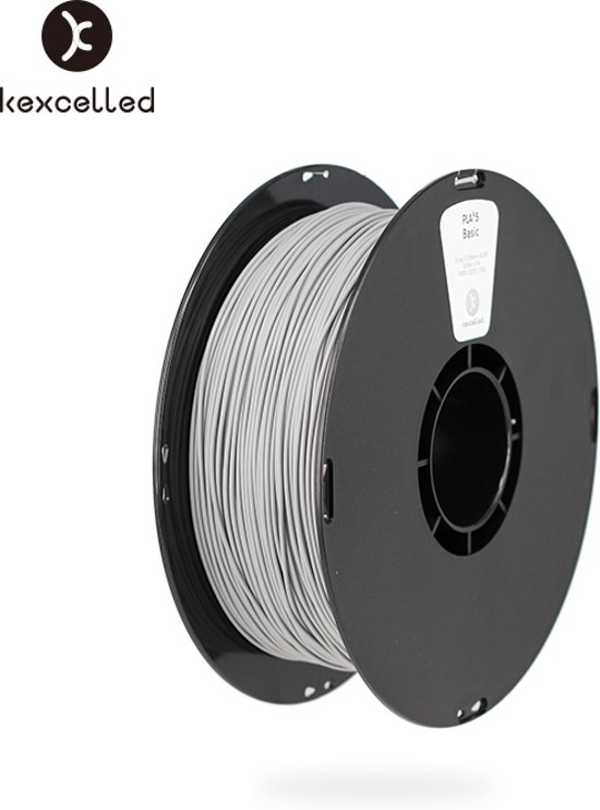 kexcelled-PLA-1.75mm-grijs/gry-1000g*5=5000g(5kg)-3d printing filament