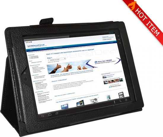 Kobo Arc 7 Tablet Stand Case, stoere Beschermhoes · Kleur Zwart - i12cover in Middelburg