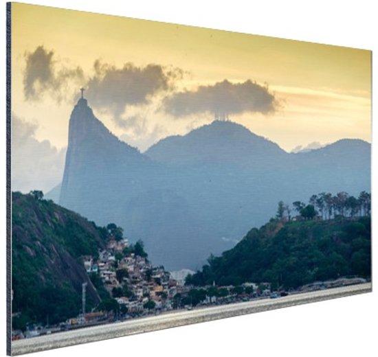 FotoCadeau.nl - Hoge bergtoppen Rio de Janeiro Aluminium 60x40 cm - Foto print op Aluminium (metaal wanddecoratie)