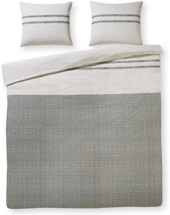 Day Dream Maurits grijs - flanel - dekbedovertrek - lits-jumeaux - 240 x 200/220 - Multi