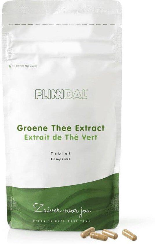 Groene Thee Extract (Ondersteunt de vetverbranding, 500 mg capsule) - 90 Capsules - Flinndal