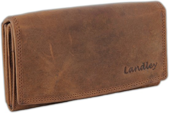 Portemonnee Leder Dames.Bol Com Landley Leren Vintage Dames Portemonnee Overslag Model