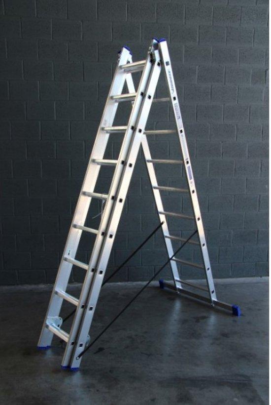 Alumexx Reformladder - 3-delig - 3x9 sporten - Werkhoogte 6.20m