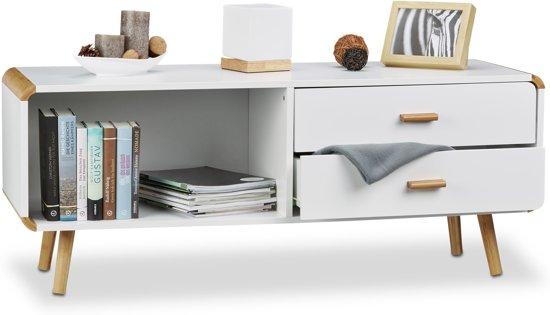 Kast Wit Hout : Tv kast wit met hout beautiful 》landelijk tv meubel