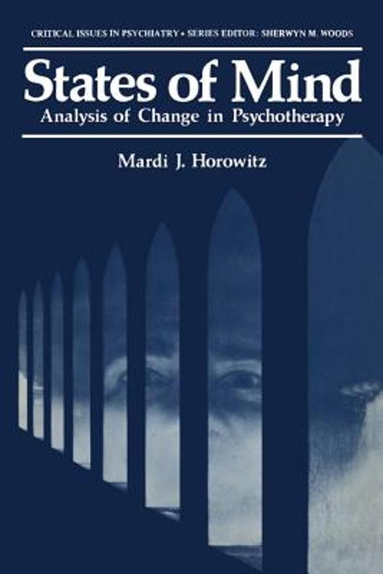 States of Mind: Analysis of Change in Psychotheraphy