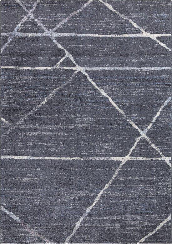 Luxury Design Vloerkleed Marrakech 80x150cm - Antraciet - Laagpolig