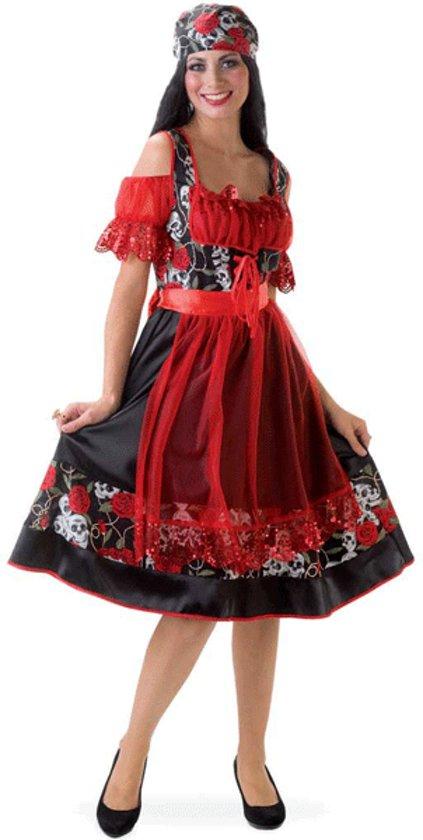 Zwart Rode Jurk.Bol Com Oktoberfest Zwart Rode Jurk Met Doodshoofden 36 S Fun