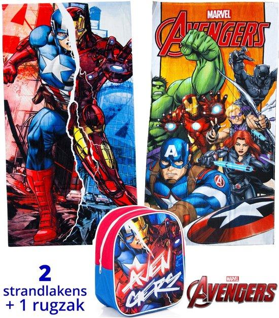 Avengers strandlaken kinderen 70x140   set 2 stuks + rugzak   set badhanddoeken   BS06
