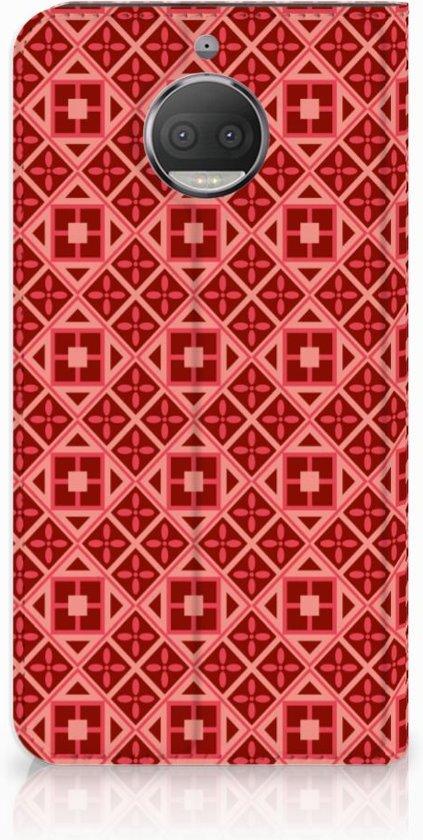 Motorola Moto G5S Plus Uniek Standcase Hoesje Batik Red