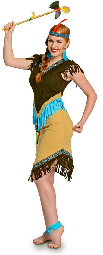 Carnavalskleding Dames Indiaan.Bol Com Indianen Jurk 2delig Dames Maat L Carnavalskleding