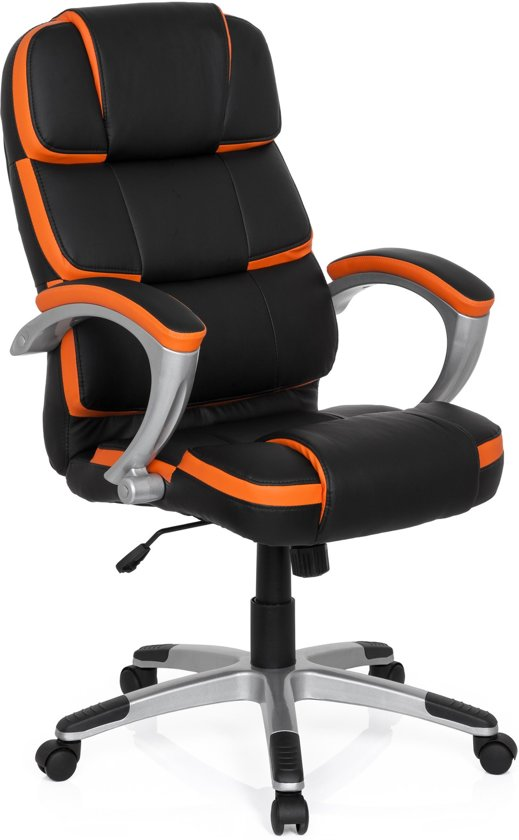 hjh office Gaming Pro By - Bureaustoel - Kunstleder - Zwart / oranje