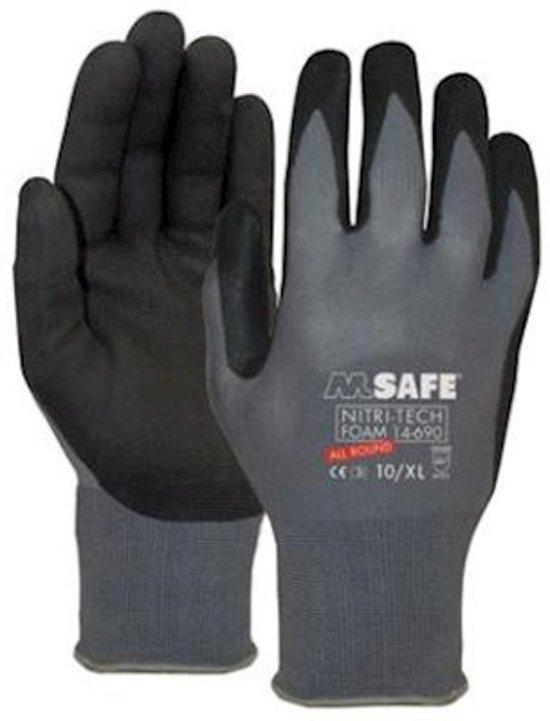 f2a66e1b4ac92b bol.com   M-Safe Nitrile foam handschoen zwart 14-690 maat 11