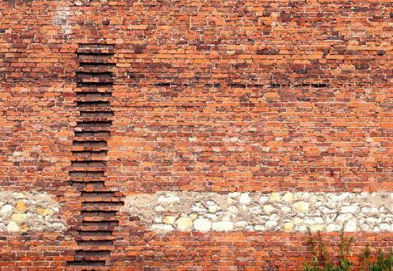 Fotobehang Brick Ladder|Poster - 104cm x 70.5cm|Premium Non-Woven Vlies 130gsm