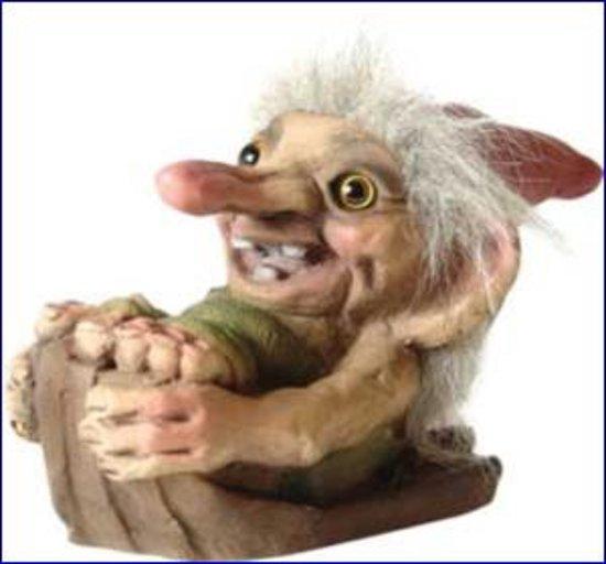 NyForm Trollen: Troll Santa On Sledge, 13 bij 8cm