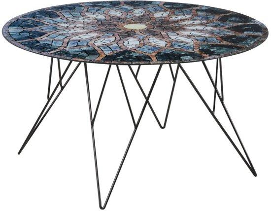 Glazen Bijzettafel Rond : Bol fyn plymouth salontafel rond cm glas zon mozaïek