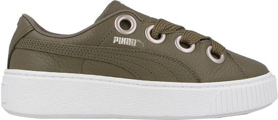 8ae0d8cd50c Puma Sneakers Platform Kiss Lea Dames Groen Maat 39