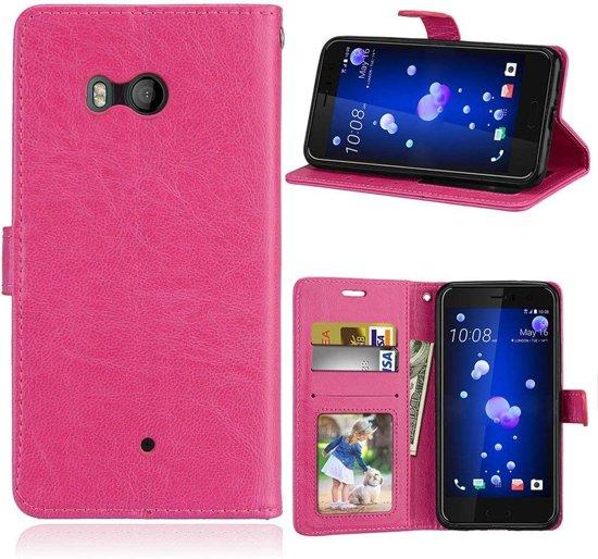 HTC U11 Portemonnee hoesje - Roze