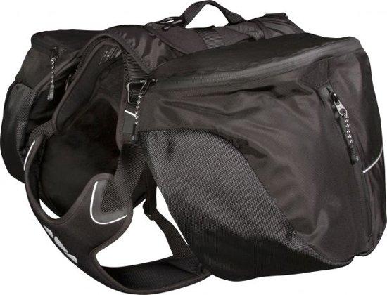 Hurtta trail pack , zwart.Voor honden van 10-20 kg.