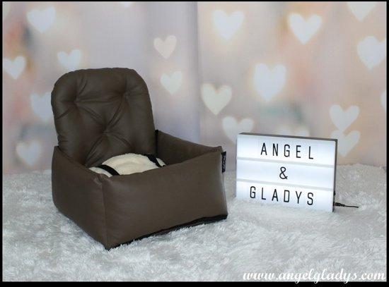 Autostoel voor honden Cosy Car Deluxe Angel & Gladys Bruin 55x45x25/50cm