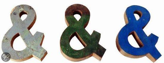 Otentic Design Decoratief object & ampersand teken - Sloophout
