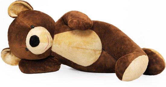 Grote knuffelbeer - Teddybeer - bruin - XL - 155 cm