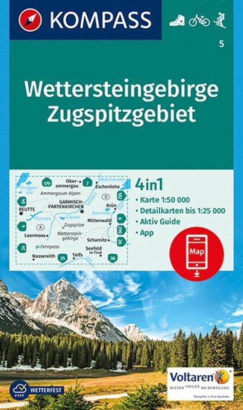 Kompass WK5 Wettersteingebirge, Zugspitzgebiet
