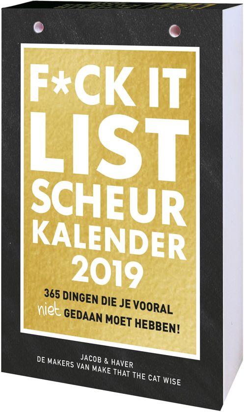 Interstat scheurkalender 2019 - F*ck it list