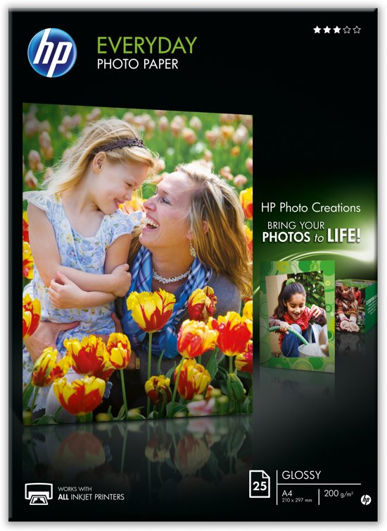HP Q5451A Everyday glanzend Fotopapier - 25 vel / A4 / 210 x 297 mm