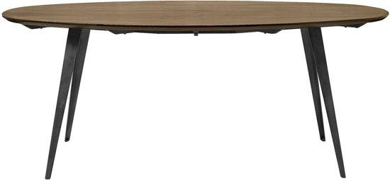 Mooie Donkerbruine Sidetable.Nordal Eettafel Ovaal Bruin Hout 78 X 200 X 100