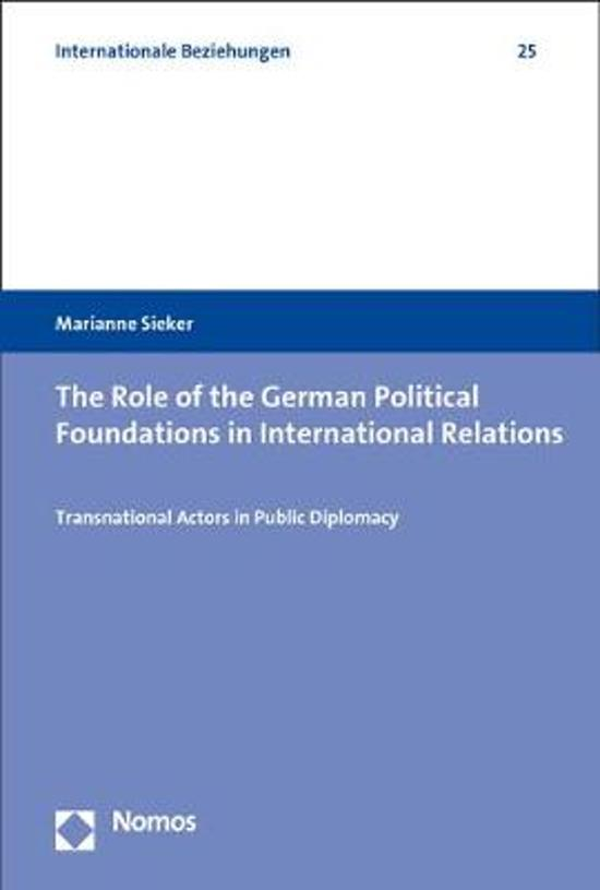 The Role of the German Political Foundations in International Relations