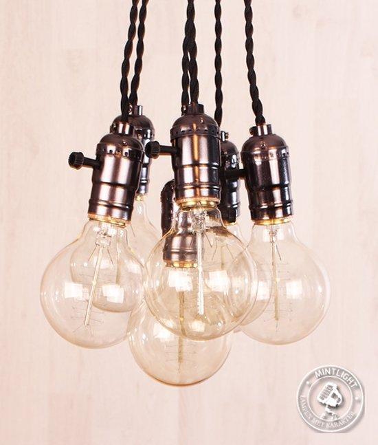 bol hanglamp edison bulb e27 fittingen 6 kooldraadlampen