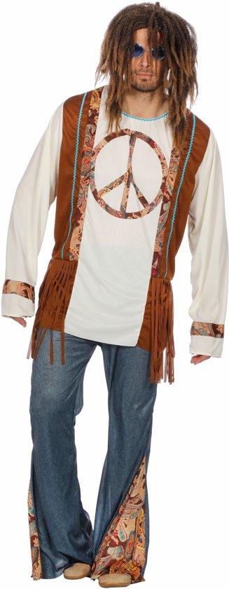 Hippie peace kostuum voor heer