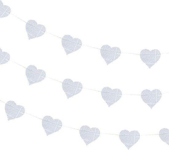 Ginger Ray Rustic Country - Hartjes slinger met kranten print - 5 meter Valentinaa