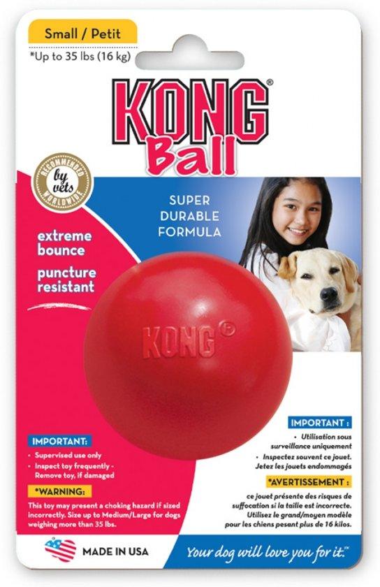 Kong Bal Medium - Bal - Diameter 8 cm - Rood