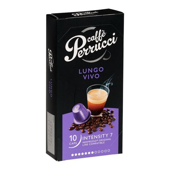 Perrucci Lungo Vivo Koffiecups - 12 x 10 Cups