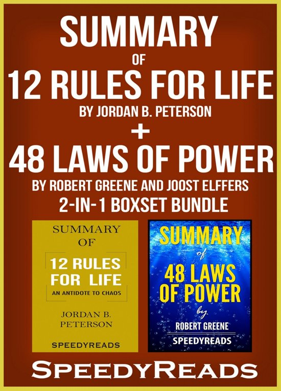 Boek cover Summary of 12 Rules for Life: An Antidote to Chaos by Jordan B. Peterson + Summary of 48 Laws of Power by Robert Greene and Joost Elffers 2-in-1 Boxset Bundle van Speedy Reads (Onbekend)