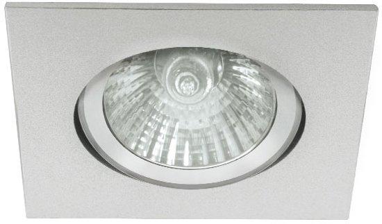 Eco-LED - Inbouwspot - Vierkant - Kantelbaar - Mat Aluminium