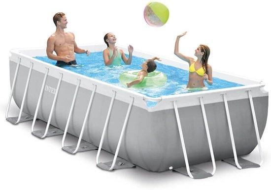 Intex Prism Frame zwembad 400 x 200 x 100 cm (met reparatiesetje)