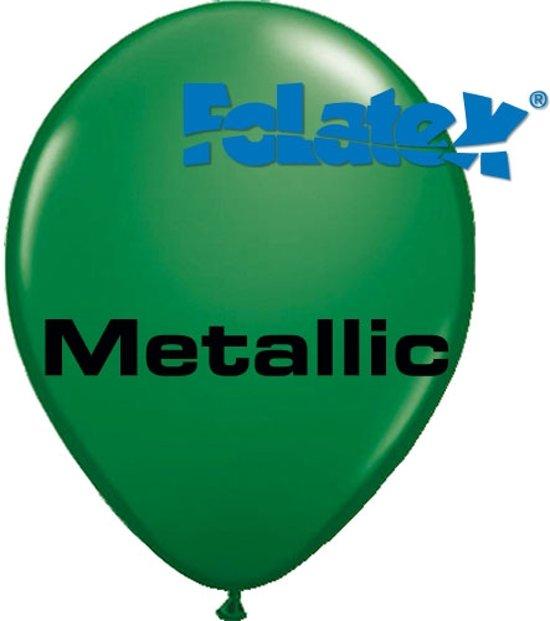 Ballonnen Metallic Groen 30 cm 25 stuks