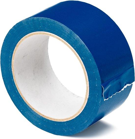 Gekleurde Tape PVC blauw - 50mm x 66m  - 36 rollen